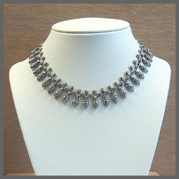 Traditional Style Sterling Silver Indian Necklace